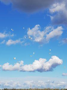 Luftballons für Schmetterlingskinder