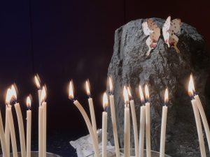 Ein Licht geht um die Welt - Kerzen zur Gedenkveranstaltung